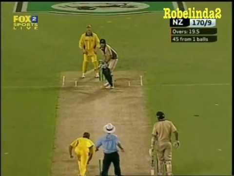 Glenn McGrath bowls underarm - in New Zealand.......2005 - YouTube