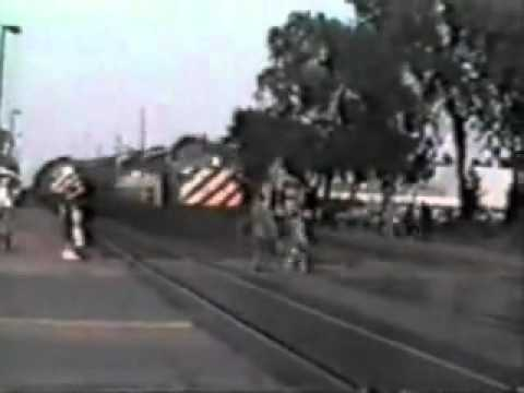 (**WARNING GRAPHIC**) Woman gets hit by a speeding Metra train led by BN EMD E9 # 9912 (Traingirl)