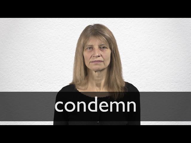 "Hindi Translation of ""condemn"" | Collins English-Hindi"