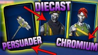 *NEW* DIECAST & CHROMIUM SKINS, PERSUADER ROCKET PICKAXE! - Fortnite Battle Royale
