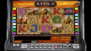 Как играть на игровом слоте Atilla. Видео, обучение игры на игровом автомате Atilla.