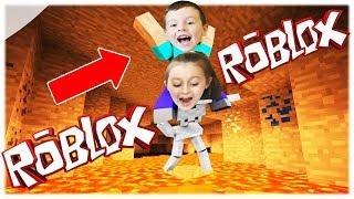 🌋ПОЛ ЭТО ЛАВА Челлендж Роблокс #3 THE FLOOR IS LAVA CHALLENGE ROBLOX Family Fun Kids от AVG