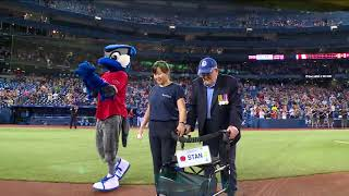 Veterans throw out the first pitch at Jays game - June 30, 2018