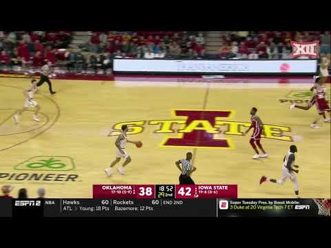 Oklahoma vs Iowa State Men's Basketball Highlights