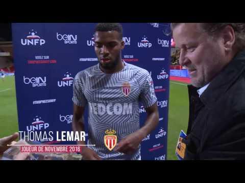 Thomas Lemar, joueur de novembre 2016 de Ligue 1