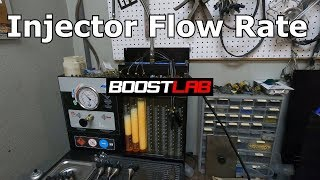 Grams 1000cc injectors Flow test  Trip To Boost lab