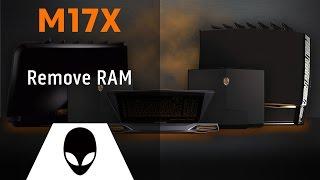 Alienware M17x R3/R4: Remove RAM