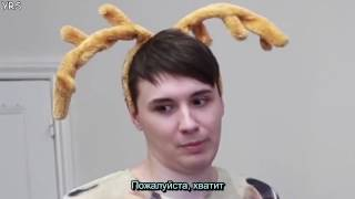 WE ACTUALLY EXERCISE!   Dan vs  Phil׃ KINECT SPORTS rus sub