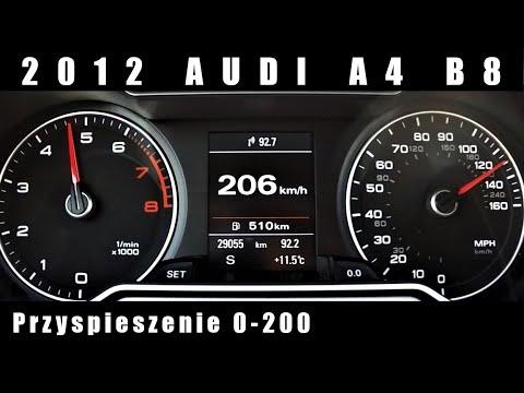 2012 Audi A4 B8 2.0 TFSI 225 KM Przyspieszenie / Acceleration 0-200 km/h