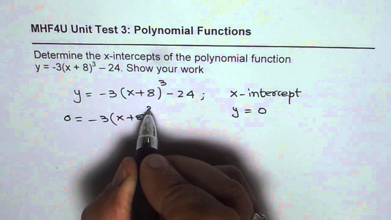 Find x intercepts of a cubic polynomial function youtube falaconquin