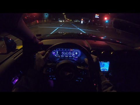 Ford Mustang GT 2019 PoV Night Drive Autobahn