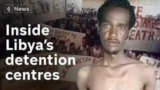 Starvation disease and death in Libyan migrant detention centre