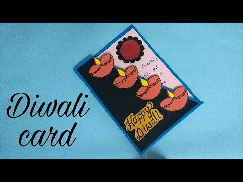 Diwali card/ Handmade easy Diwali card complete tutorial
