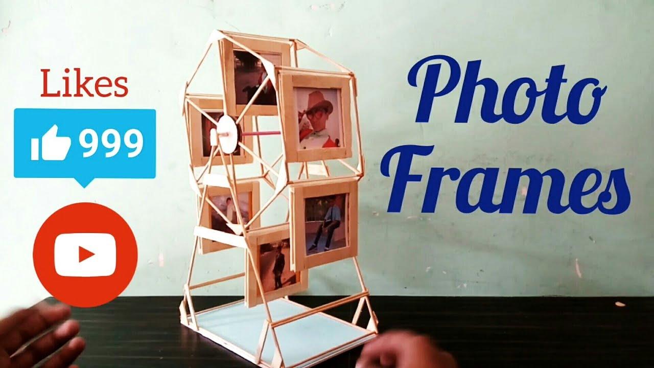 How to make ferri wheel photo frame - YouTube