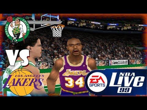 Nba Live 99 Los Angeles Lakers-Boston Celtics- Season Game#1