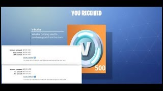 How to Get Free 500 V Bucks Fortnite With Free 5 USD Paypal
