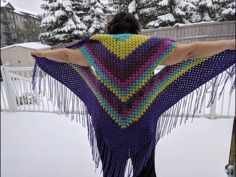 How To Crochet A Plus Size Vest Shawl Granny Youtube