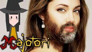 Una mujer con barba :)... ¿¡KHÉ!?   Majotori (Con Mago y Hach)