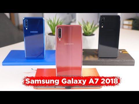 """Обзор Samsung Galaxy A7 2018 // Три камеры в """"середняке"""""""