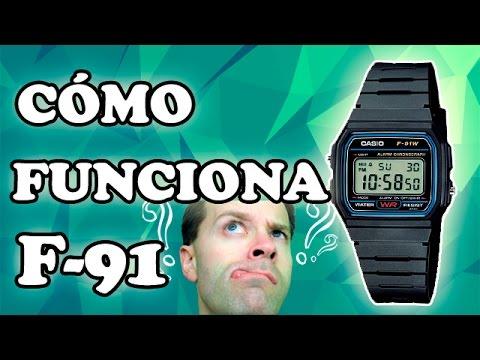 4bbe8ea64435 Cómo Funciona el Reloj Casio (F-91W) Alarma