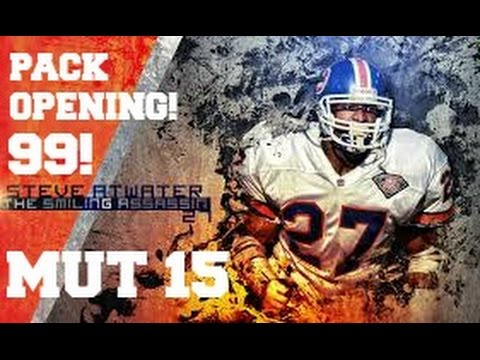 99 BOSS STEVE ATWATER!  - MUT 15 Pack Opening | MADDEN 16