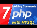 07 - PHP with MYSQL tutorial - beginner series - Adding comments to your code