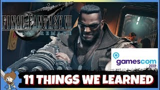 FF7 Remake - 11 Things We Learned At Gamescom 2019