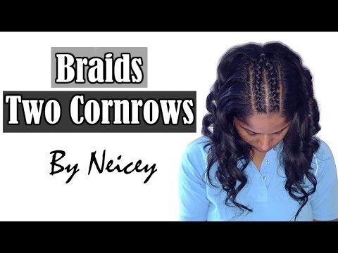 Two Cornrows French Boxer Braids Hairstyle