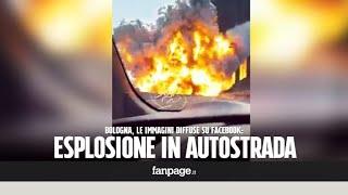Esplosione a Bologna dopo incendio in autostrada A14 a Borgo Panigale: i video