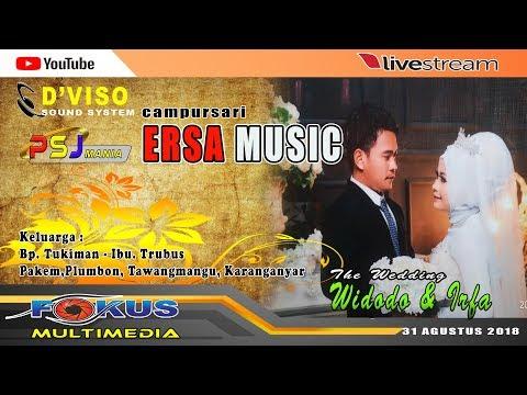 LIVE STREAM// FOKUS MULTIMEDIA //ERSA MUSIC  //Pernikahan WIDODO & IRFA