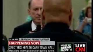 Anger Erupts at Arlen Specter Health Care Town Hall Meeting