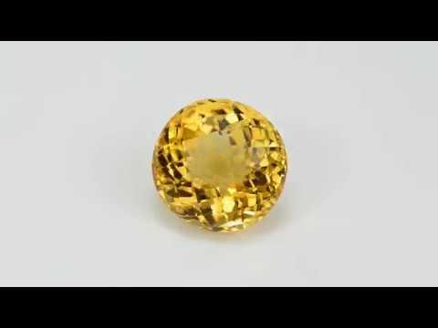 Цитрин. Натуральный желтый камень. Citrine Gemstone.
