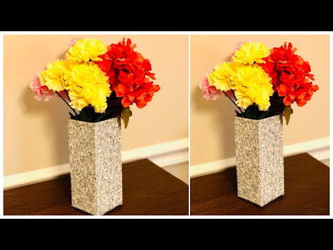 DIY / FLOWER VASE MAKING /  DIY HOME DECOR EASY / WASTE MATERIAL CRAFT IDEAS