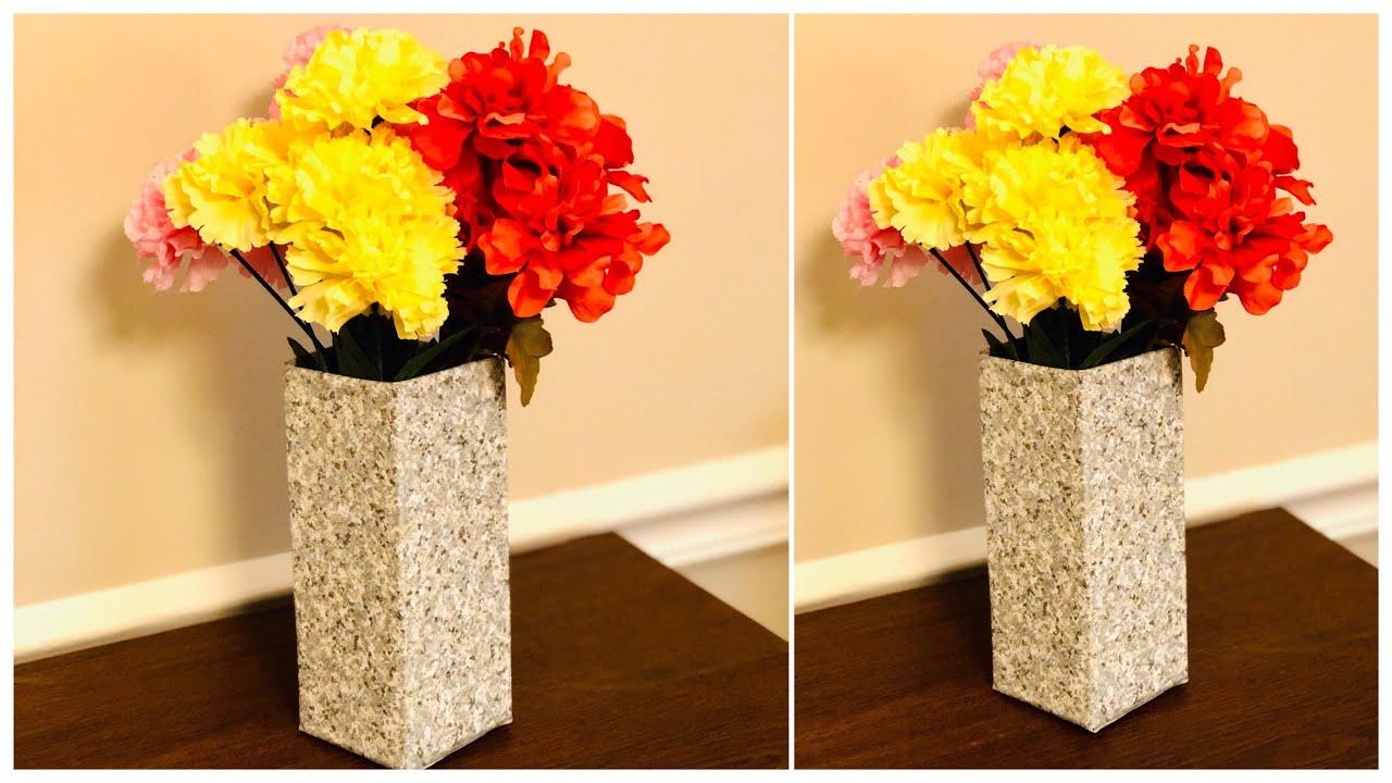 Diy Flower Vase Making Diy Home Decor Easy Waste Material