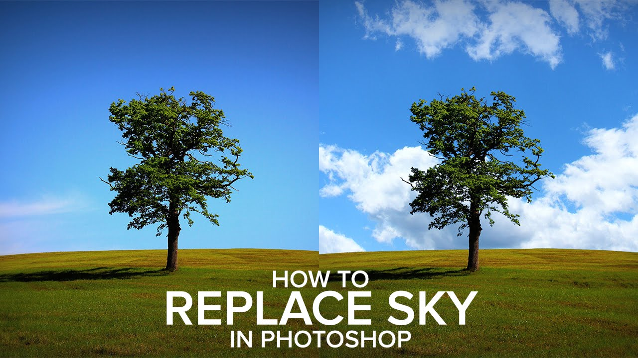 How to Replace a Sky Easily in Photoshop - How To Replace A Sky Easily In Photoshop - YouTube