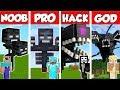 Minecraft NOOB vs PRO vs HACKER vs GOD: WITHER STORM MUTANT CHALLENGE in Minecraft / Animation