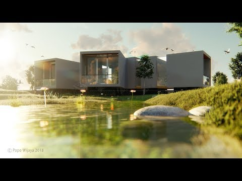 LUMION 8 - MAKING A HOUSE BY THE RIVER