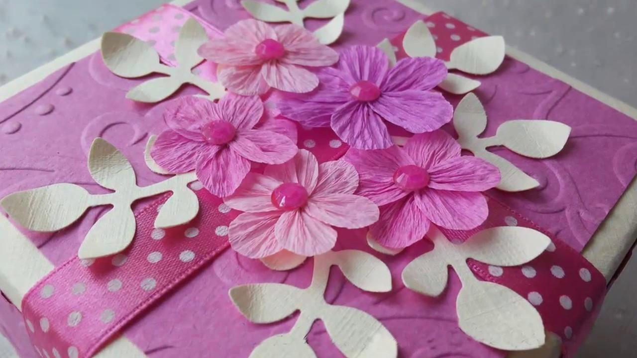 Поздравлениями восьмого, цветок из гофрированной бумаги для открытки