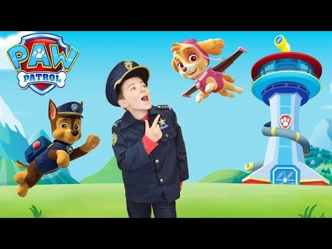 Paw Patrol Flip and Fly Chase and Marshall pretend play skit!