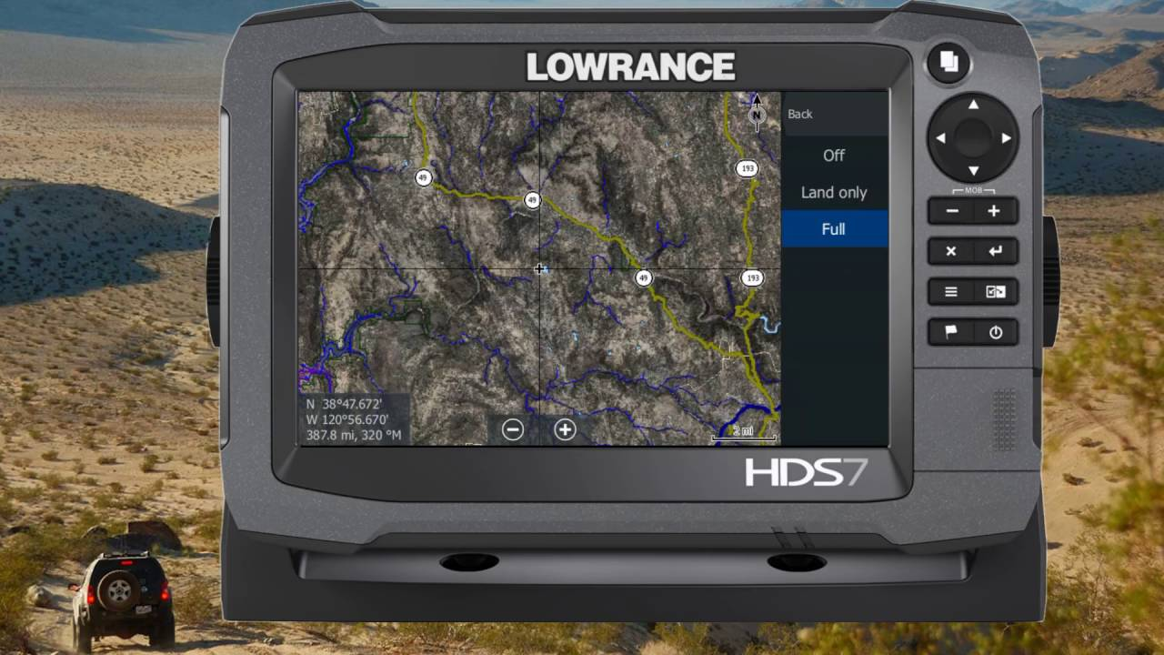 How to Enable Satellite Imagery with Rugged Routes Maps on Lowrance HDS-7  Gen3/Carbon for Off Road