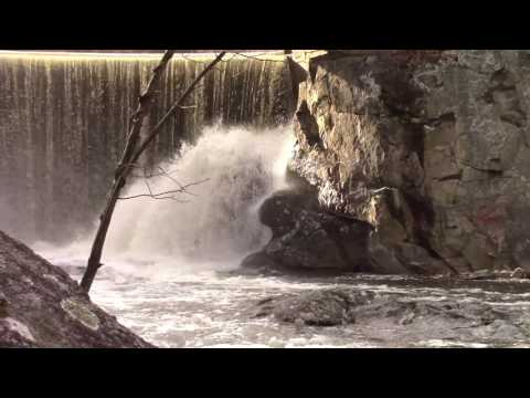 Looking for Late Winter Waterfalls in the Woods of Northampton, Massachusetts