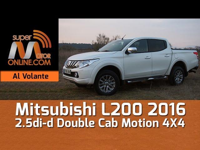 Mitsubishi L200 2016 / Al volante / Prueba dinámica / Review / Supermotoronline.com