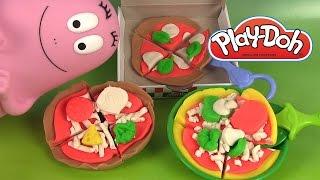 Play Doh Pizza Pâte à modeler Barbapapa Peppa Pig mangent de la pizza