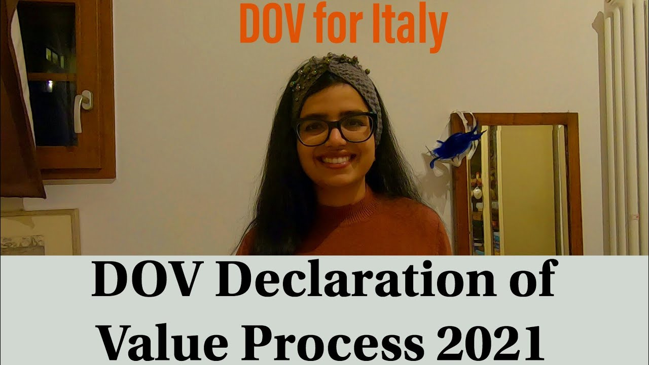 Download DOV(Declaration of Value) For Admission in Italy- Sample included /travel with megh