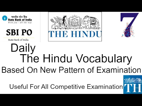 Daily Vocabulary of The Hindu,The Economic Times & Best  Editorial Idioms/phrases (January 2017)