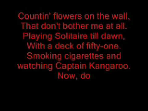 eric heatherly-countin flowers on the wall with lyrics