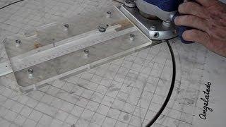 Cómo cortar círculos de madera con fresadora  o el circulrouter.