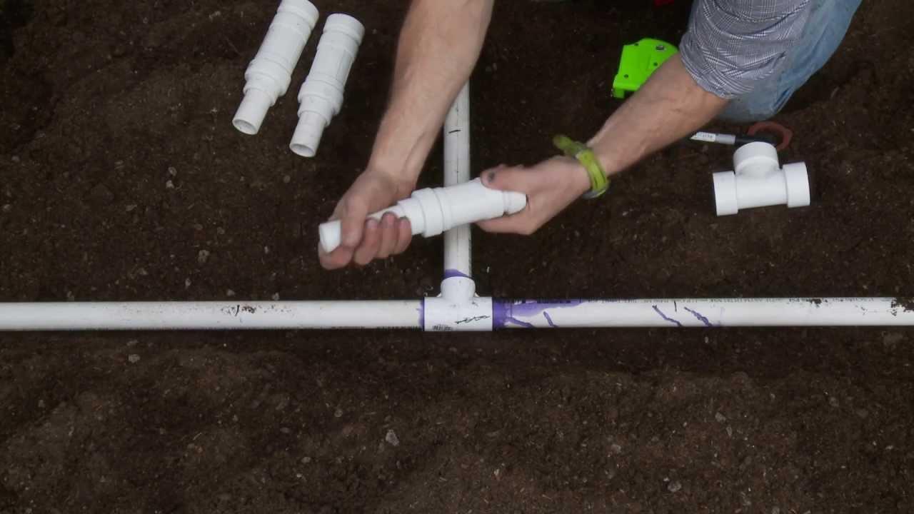 How To Repair PVC Sprinkler Pipe; Glueless Tee & Slide ...