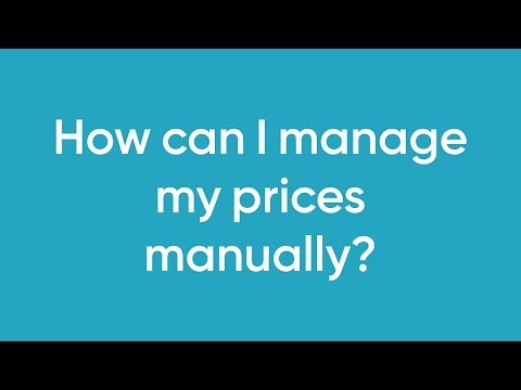 How can I manage my prices manually?