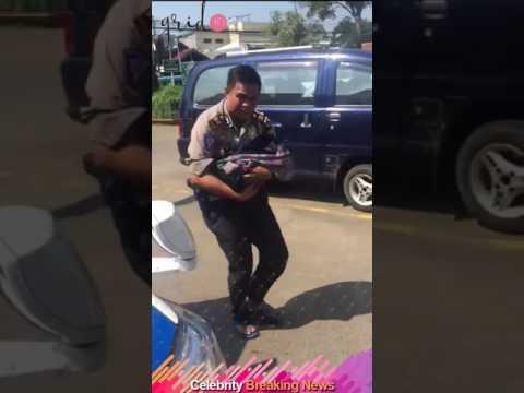 AKP Arman Bergetar dan Gugup Lantunkan Adzan Pada Bayi yang Lahir di Bahu Jalan Tol Cipali